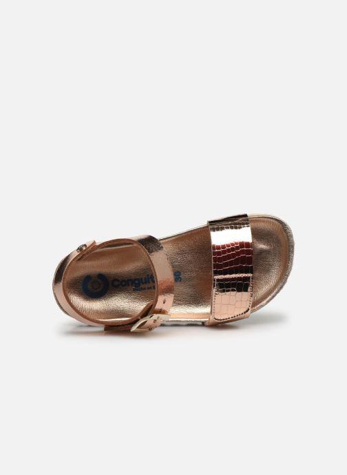 Sandalias Conguitos Metalizado Velcro Oro y bronce vista lateral izquierda