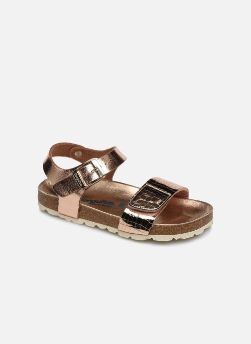 Sandalias Conguitos Metalizado Velcro Oro y bronce vista de detalle / par