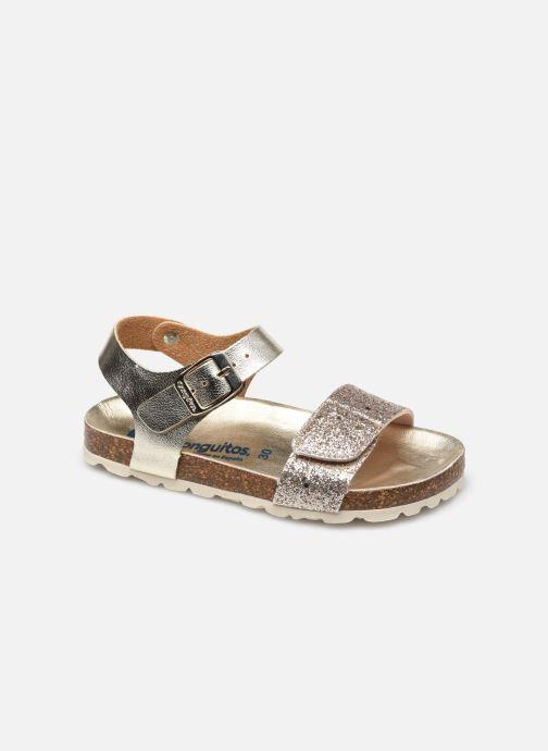 Sandales et nu-pieds Conguitos Metalizado Velcro Or et bronze vue détail/paire
