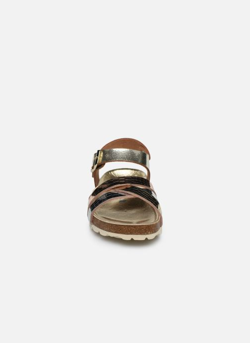 Sandalias Conguitos Metalizado Croisé Oro y bronce vista del modelo