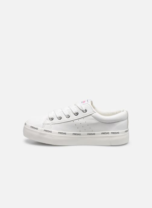 Sneakers Fresas by Conguitos Napa Bianco immagine frontale