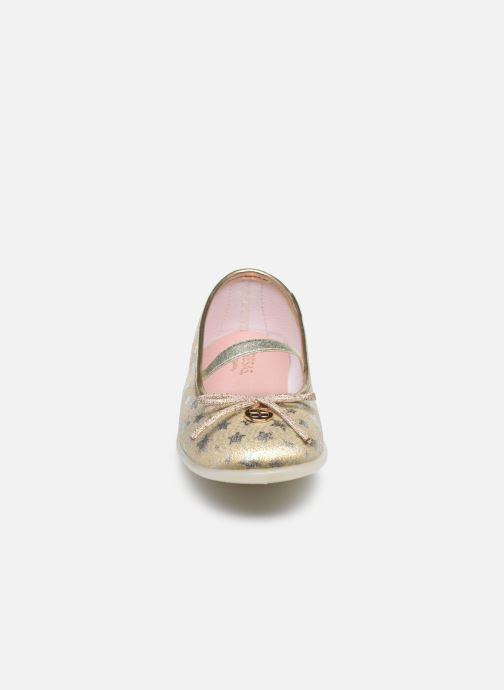 Ballerines Fresas by Conguitos Estrellas Or et bronze vue portées chaussures