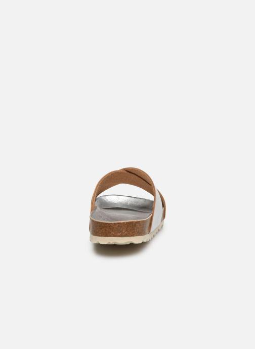 Sandales et nu-pieds Fresas by Conguitos Mule Metalizado Argent vue droite