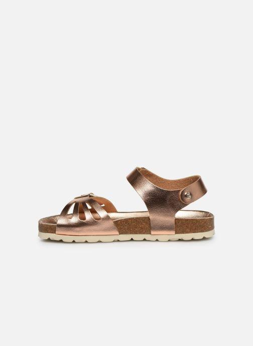 Sandales et nu-pieds Fresas by Conguitos Sandal Metalizado Argent vue face
