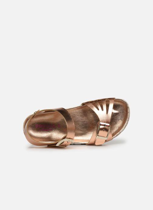 Sandales et nu-pieds Fresas by Conguitos Sandal Metalizado Argent vue gauche