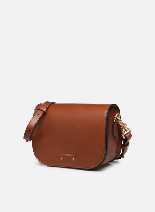 Handtaschen Vanessa Bruno Holly Besace braun schuhe getragen