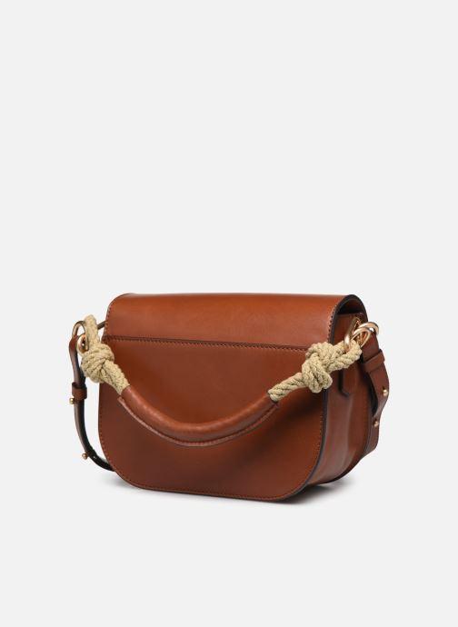 Handtaschen Vanessa Bruno Holly Besace braun ansicht von rechts