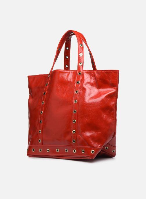Sacs à main Vanessa Bruno Cabas M Froisse Rouge vue portées chaussures