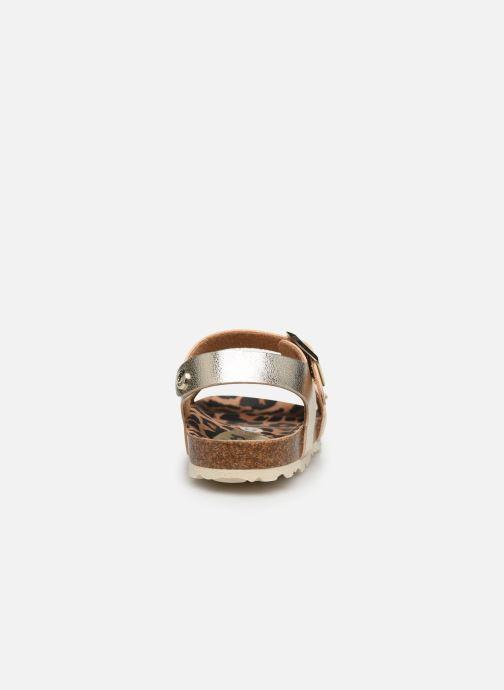 Sandalias Osito by Conguitos Metalizado Oro y bronce vista lateral derecha
