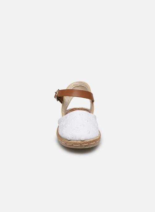 Espadrilles Osito by Conguitos Batista Blanc vue portées chaussures