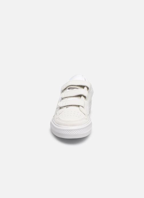 Baskets adidas originals Continental Vulc Cf C Blanc vue portées chaussures