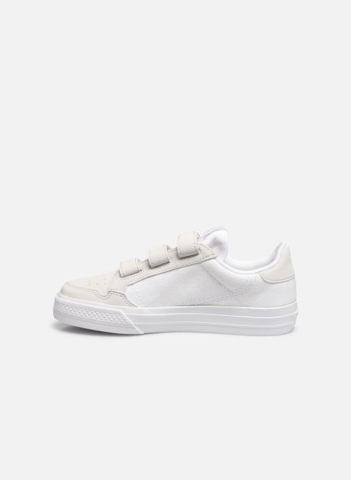 Baskets adidas originals Continental Vulc Cf C Blanc vue face