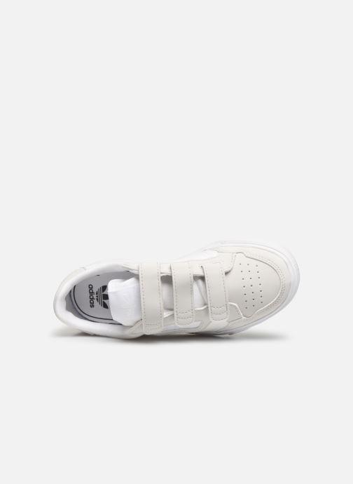 Baskets adidas originals Continental Vulc Cf C Blanc vue gauche