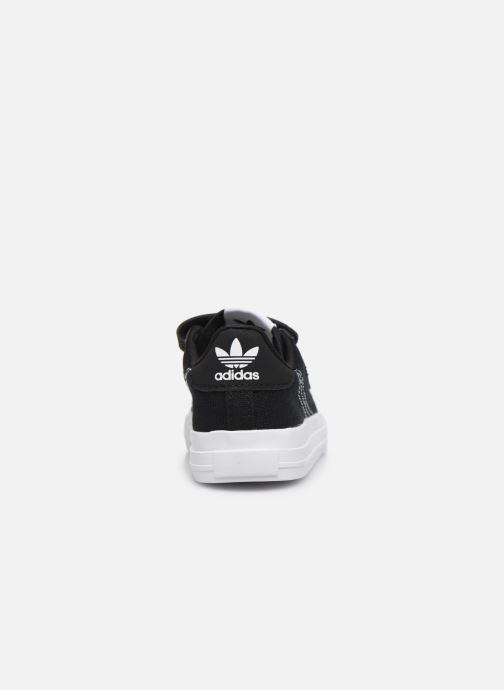 Sneakers adidas originals Continental Vulc Cf I Zwart rechts