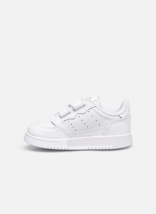Baskets adidas originals Supercourt Cf I Blanc vue face