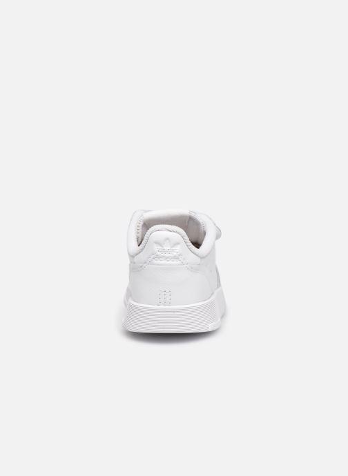 Baskets adidas originals Supercourt Cf I Blanc vue droite