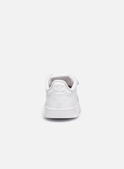 Baskets adidas originals Supercourt Cf I Blanc vue droite