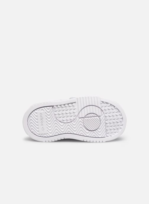 Baskets adidas originals Supercourt Cf I Blanc vue haut