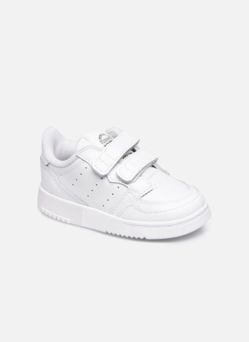 Baskets adidas originals Supercourt Cf I Blanc vue détail/paire