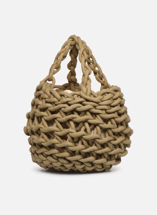 Sacs à main Alienina Tea Bag Marron vue portées chaussures