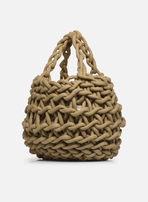 Sacs à main Alienina Tea Bag Marron vue droite
