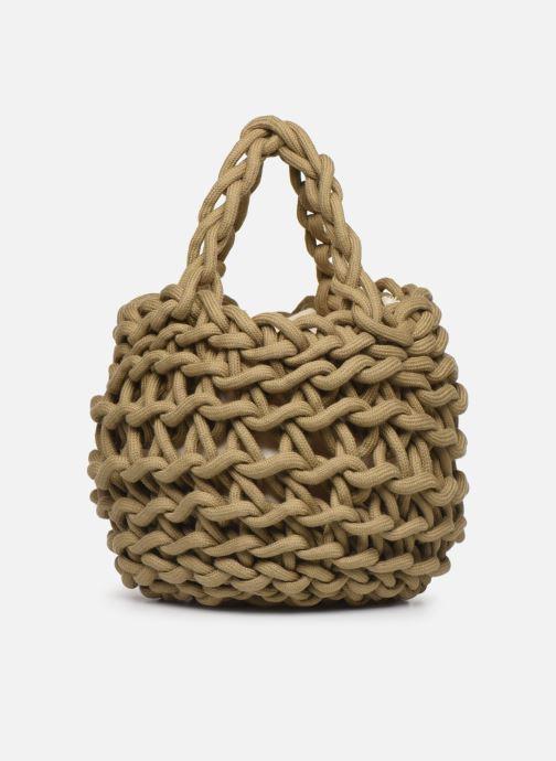 Sacs à main Alienina Tea Bag Marron vue détail/paire