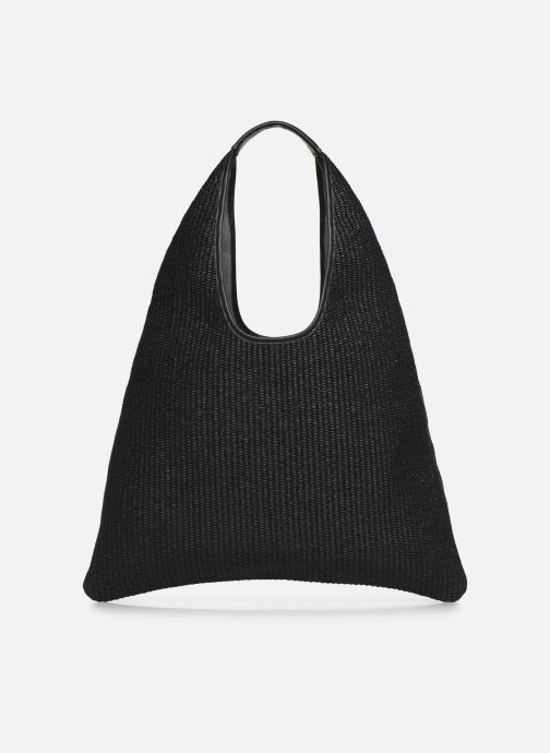 Bolsos de mano Arron Hobo Medium Rafia Negro vista de frente