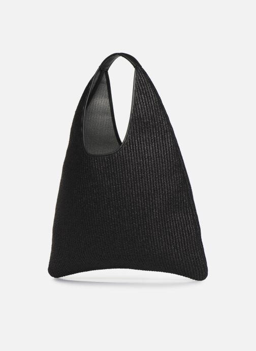 Handtassen Arron Hobo Medium Rafia Zwart rechts