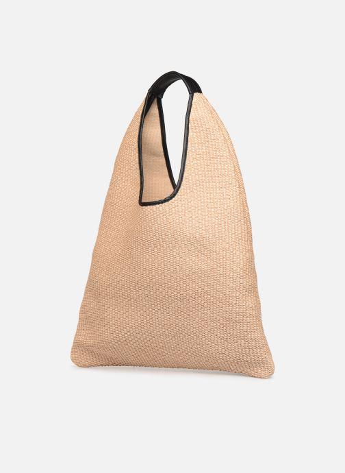 Handtaschen Arron Hobo Medium Rafia beige schuhe getragen