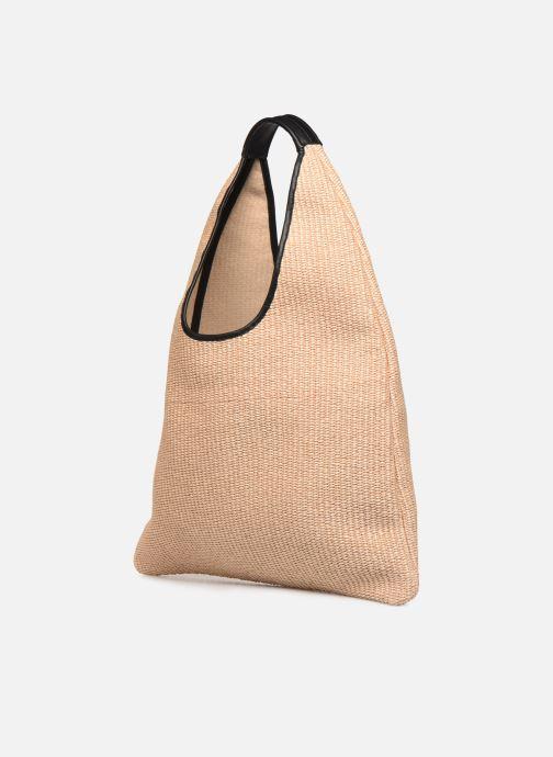 Handtaschen Arron Hobo Medium Rafia beige ansicht von rechts