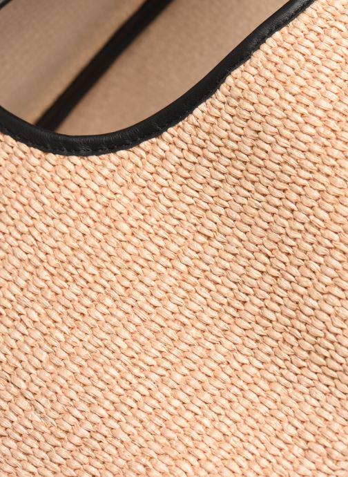 Handtaschen Arron Hobo Medium Rafia beige ansicht von links
