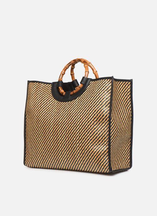 Handtassen Arron Structured Rafia Bag Beige model