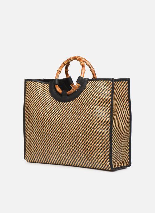 Handtassen Arron Structured Rafia Bag Beige rechts