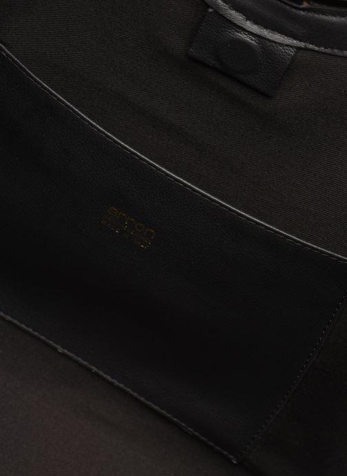 Handtassen Arron Structured Rafia Bag Beige achterkant