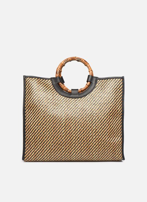 Handtassen Arron Structured Rafia Bag Beige detail