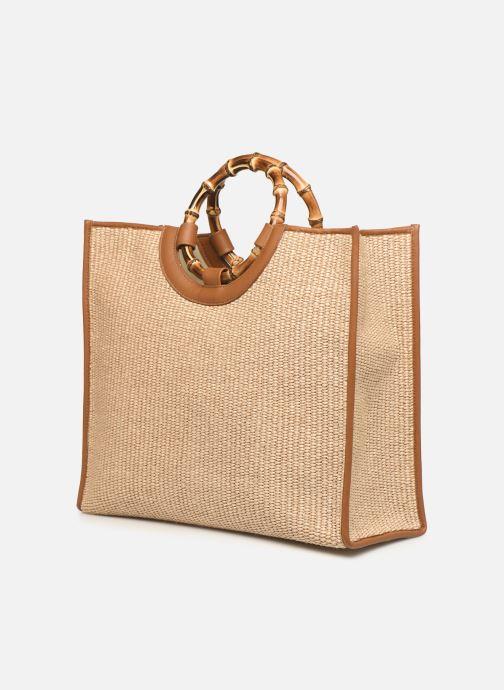Borse Arron Structured Rafia Bag Beige modello indossato
