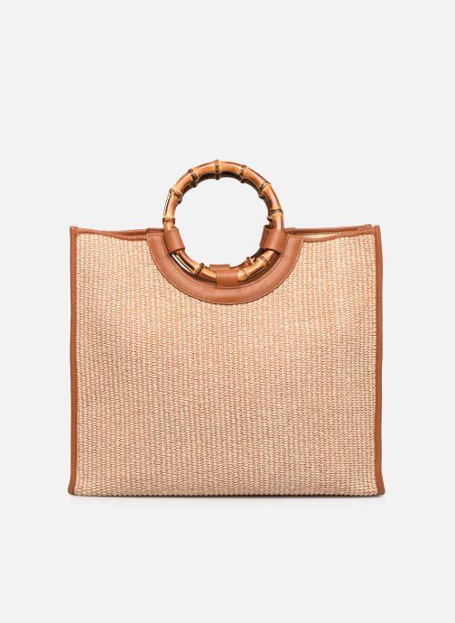 Handtassen Arron Structured Rafia Bag Beige voorkant