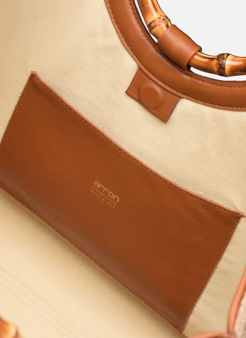 Borse Arron Structured Rafia Bag Beige immagine posteriore