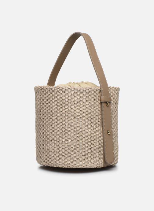 Sacs à main Arron Small Bucket Bag Beige vue portées chaussures