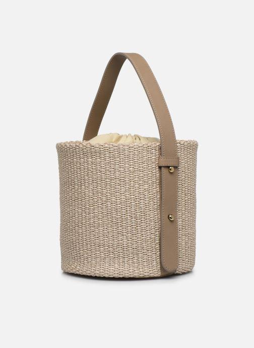 Sacs à main Arron Small Bucket Bag Beige vue droite