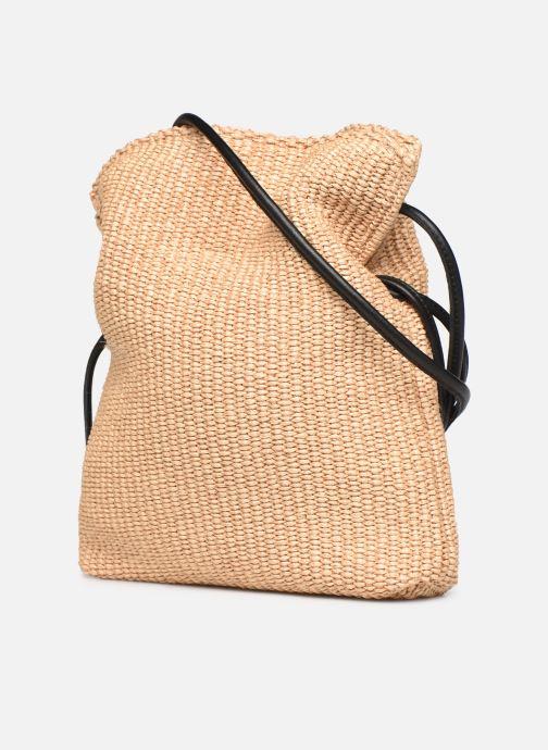 Handtaschen Arron Small Rafia Handbag beige ansicht von rechts