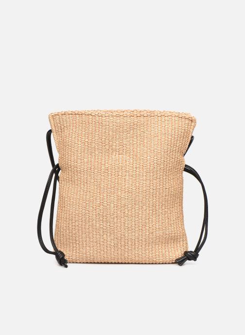 Handtaschen Arron Small Rafia Handbag beige ansicht von links