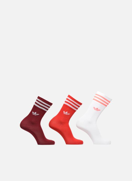 Chaussettes et collants adidas originals Solid Crew Sock Lot De 3 Rouge vue détail/paire
