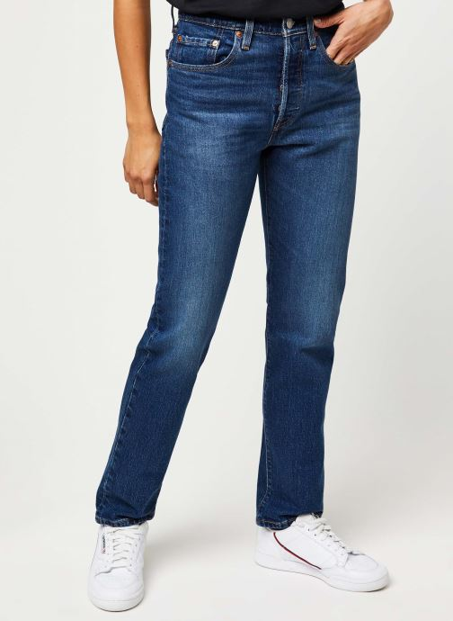Vêtements Levi's 501® Crop Jeans Bleu vue détail/paire