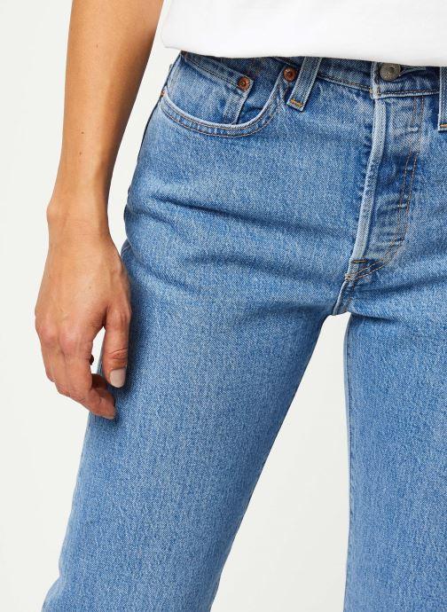 Kleding Levi's 501® Crop Jeans Blauw voorkant
