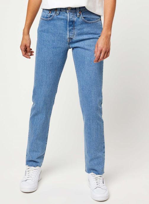 Kleding Levi's 501® Crop Jeans Blauw detail