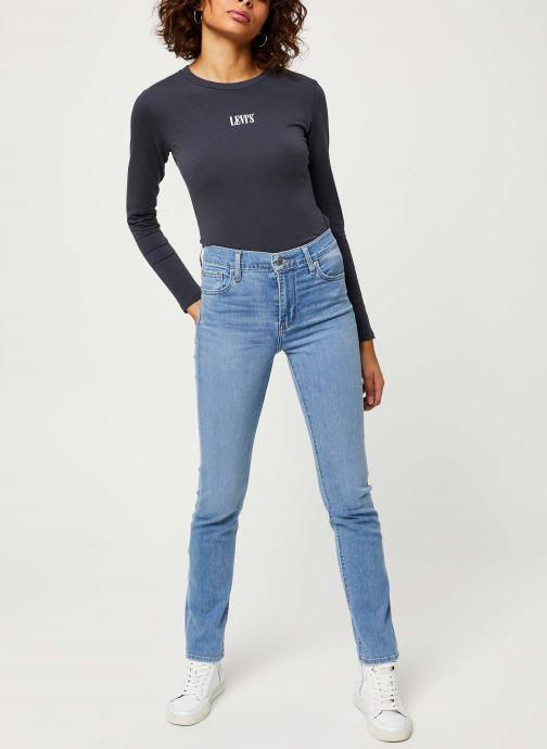 Vêtements Levi's 724™ High Rise Straight Jeans Bleu vue bas / vue portée sac