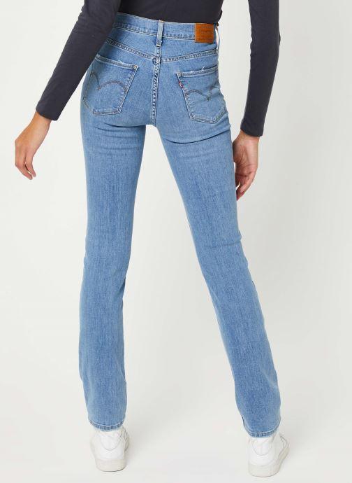 Vêtements Levi's 724™ High Rise Straight Jeans Bleu vue portées chaussures