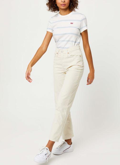 Vêtements Levi's Ribcage Straight Ankle Jeans Blanc vue bas / vue portée sac