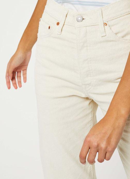 Vêtements Levi's Ribcage Straight Ankle Jeans Blanc vue face